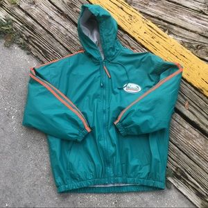 Miami Dolphins a zip up jacket  Size Xl
